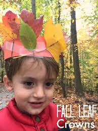 fun fall craft leaf crown for kids simple play ideas