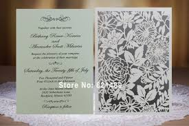 laser cut wedding invitations aliexpress buy white laser cut invitation cards