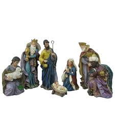 Home Interiors Nativity by Martha Stewart Living 10 In Glittery Bristle Pine Artificial