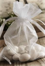 organza favor bags white sheer organza favor bags 7