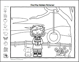 find it spring hidden picture worksheets mamas learning corner