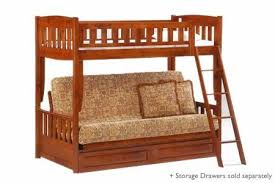 Futon Set Free Shipping Twin Full Wood Bunkbed Set The Futon Shop - Wood bunk bed with futon