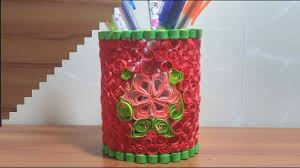 easy and quick diy how to make pen or pencil holder design with