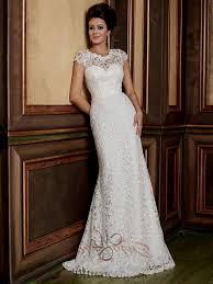 vintage lace wedding dresses with capped sleeves naf dresses