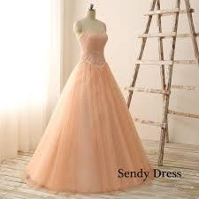 strapless sweetheart dress peach color strapless wedding dress