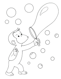 curious george coloring pages free print batting tab book