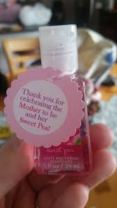 ideas for baby shower favors bath and works sweet pea sanitizer ideas for