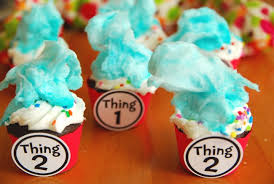 dr seuss cupcakes dr seuss thing 1 thing 2 cupcakes babycenter