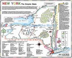 Map New York State by New York Map Maps For The Classroom