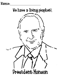 thomas s monson coloring page invitations from the prophet the