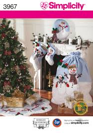 christmas decorations sewing pattern 3967 simplicity sewing