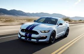 white mustang blue stripes the performance tuned 2016 ford mustang shelby gt350 motrface