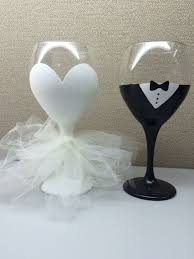 Unusual Wine Glasses by 20oz Glittery Bride Hand Painted Wine Glass With Tulle Dress And