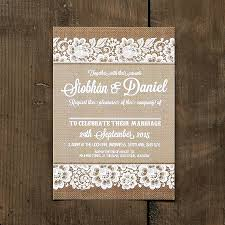 burlap wedding invitations burlap and lace wedding invitations burlap and lace wedding