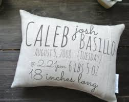 personalized pillows for baby personalized baby pillow etsy