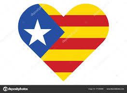Estelada Flag Estelada Blava Catalonia Flag Heart U2014 Vector De Stock Pe3check