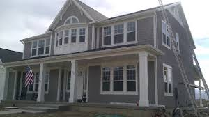 sw dovetail gray 7018 with pure white 7005 exterior paint