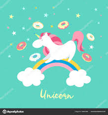 unicorn rainbow unicorn character set cute magic collection with unicorn rainbow