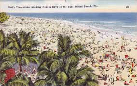 Miami Beach Hotels Map by Miami Beach Postcard Roundup