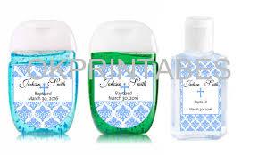 personalized baptism favors custom baptism boy personalized sanitizer by okprintables on zibbet