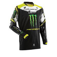 Thor Phase Sp14 Pro Circuit Monster Energy Mx Shirt Moto X