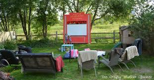 Backyard Movie Theatre by Backyard Movie Birthday Party The Crafty Mother Clucker