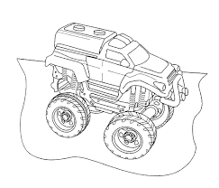 monster trucks coloring pages monster truck mutt coloring page free coloring pages online