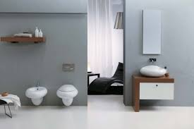 marvelous bathroom wallpaper for wonderful bathroom design wonderful ultramodern bathroom design ideas also gray wallpaper and wall mount toilet plus bidet unique vessel