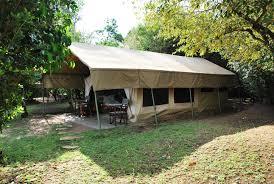 building a tent platform kenya with kids