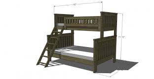 Plans To Build A Bunk Bed Ladder by Free Woodworking Plans To Build An Rh Inspired Kenwood Twin Over
