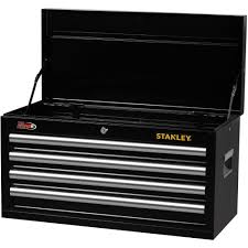 stanley tool chest cabinet stanley 4 drawer chest black walmart com