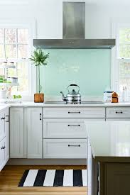 Really Like The Aqua Subway Tile Backsplash One Bold Dash Of - Teal glass tile backsplash