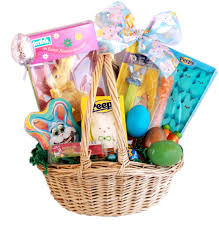 gourmet easter bunny and eggs candy gift basket gifts
