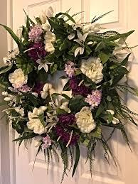 spring wreaths for front door spring wreath spring floral wreath front door wreath decorative