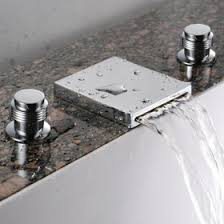 Waterfall Bath Faucets Waterfall Bathroom Sink Faucet Widespread Chrome Finish