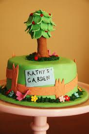 garden cake and fondant tree tutorial