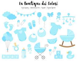blue baby boy clipart cute graphics png scrapbook invitation