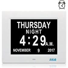 afficher l heure sur le bureau horloge calendrier avec date jour et heure horloge alzheimer