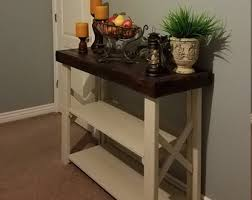 Wood Sofa Table by Narrow Console Table Etsy