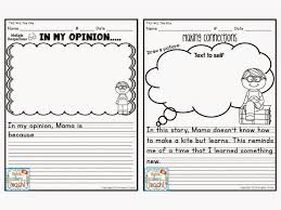 every story has an opinion writing and a text connection worksheet