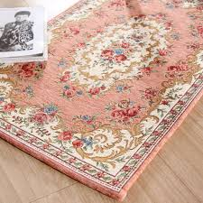 Floral Area Rug Keyama European Rectangle Jacquard Double Yarn Acrylic Parlor