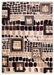 designer teppich designer teppich mit konturenschnitt w rfel muster in beige graun