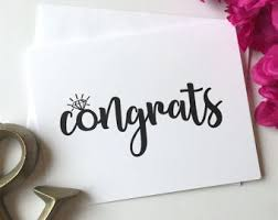 congratulations engagement card engagement card he put a ring on it engagement card