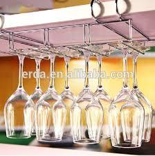 metal no peg under cabinet wine glass holder stemware holder buy