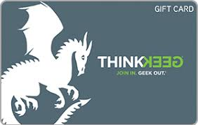 Buy Giftcards With Paypal by Buy Thinkgeek Egift Cards With Paypal