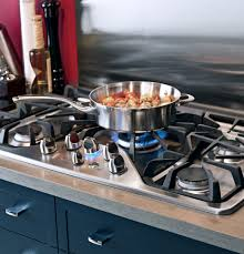 Gas On Glass Cooktop 36 Ge Cgp650setss 36 Inch Gas Cooktop With Griddle Accessory Precise