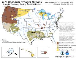 Oregon Drought Map by Climate Prediction Center United States Seasonal Drought