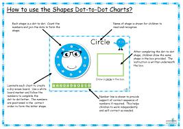 printable dot to dot shapes charts learning 4 kids