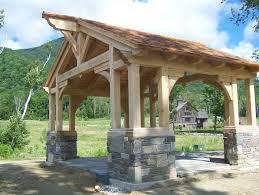 post and beam gazebo this beautiful yet rustic freestanding post