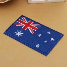 buy australia flag pattern embroidered badge patch diy badges